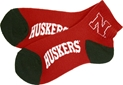 HUSKERS RED ANKLE SOCK Nebraska Cornhuskers, HUSKER RED ANKLE SOCKS
