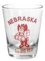 Herbie Husker Shot Glass Nebraska Cornhuskers, Nebraska Kitchen & Glassware, Huskers Kitchen & Glassware, Nebraska  Tailgating, Huskers  Tailgating, Nebraska Herbie Husker Shot Glass, Huskers Herbie Husker Shot Glass