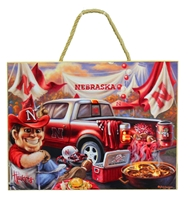 Herbie Husker Tailgating Plaque Nebraska Cornhuskers, Nebraska  Framed Pieces, Huskers  Framed Pieces, Nebraska Herbie Husker Tailgating Plaque, Huskers Herbie Husker Tailgating Plaque