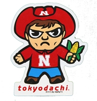 Herbie Husker Tokyodachi Sticker Nebraska Cornhuskers, Nebraska Stickers Decals & Magnets, Huskers Stickers Decals & Magnets, Nebraska  Toys & Games, Huskers  Toys & Games, Nebraska Herbie Husker Tokyodachi Sticker, Huskers Herbie Husker Tokyodachi Sticker