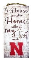 House is Home with Dog and Huskers Wood Sign Nebraska Cornhuskers, Nebraska  Frames Pieces, Huskers  Frames Pieces, Nebraska Pet items, Huskers Pet items, Nebraska House is Home with Dog and Huskers Wood Sign, Huskers House is Home with Dog and Huskers Wood Sign