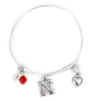 Husker Bangle Beaded Charm Bracelet Nebraska Cornhuskers, Nebraska  Ladies, Huskers  Ladies, Nebraska  Jewelry & Hair, Huskers  Jewelry & Hair, Nebraska  Ladies Accessories, Huskers  Ladies Accessories, Nebraska Husker Bangle Beaded Charm Bracelet, Huskers Husker Bangle Beaded Charm Bracelet
