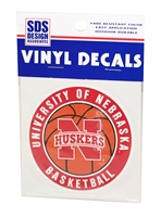 Husker Basketball Decal Nebraska Cornhuskers, Nebraska Vehicle, Huskers Vehicle, Nebraska Stickers Decals & Magnets, Huskers Stickers Decals & Magnets, Nebraska  Basketball, Huskers  Basketball, Nebraska Husker Basketball Decal, Huskers Husker Basketball Decal
