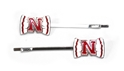 Husker Bow Bobby Pins (2 pack) Nebraska Cornhuskers, husker football, nebraska cornhuskers merchandise, nebraska merchandise, husker merchandise, nebraska cornhuskers apparel, husker apparel, nebraska apparel, husker womens apparel, nebraska cornhuskers womens apparel, nebraska womens apparel, husker womens merchandise, nebraska cornhuskers womens merchandise, womens nebraska accessories, womens husker accessories, womens nebraska cornhusker accessories, Bobby Pins