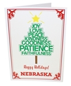 Husker Christmas Tree Card Nebraska Cornhuskers, Nebraska  Novelty, Huskers  Novelty, Nebraska  Holiday Items, Huskers  Holiday Items, Nebraska Husker Christmas Tree Card, Huskers Husker Christmas Tree Card