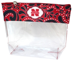Husker Clear Travel Zipper Pouch Nebraska Cornhuskers, Nebraska  Ladies, Huskers  Ladies, Nebraska  Bags Purses & Wallets, Huskers  Bags Purses & Wallets, Nebraska  Ladies Accessories, Huskers  Ladies Accessories, Nebraska Clear Travel Pouch  Zippered Desden, Huskers Clear Travel Pouch  Zippered Desden