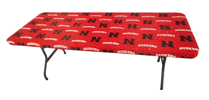 Husker Fabric Table Cover Nebraska Cornhuskers, Nebraska  Patio, Lawn & Garden, Huskers  Patio, Lawn & Garden, Nebraska  Tailgating, Huskers  Tailgating, Nebraska Husker Fabric Table Cover, Huskers Husker Fabric Table Cover