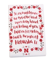 Husker Fight Song Fridge Magnet Nebraska Cornhuskers, Nebraska Stickers Decals & Magnets, Huskers Stickers Decals & Magnets, Nebraska Song Magnet 2x3 Paulsen, Huskers Song Magnet 2x3 Paulsen