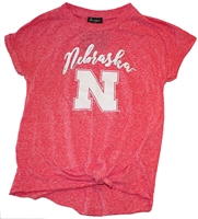 Husker Gals Side-Knot Swing Tee Nebraska Cornhuskers, Nebraska  Ladies Tops, Huskers  Ladies Tops, Nebraska  Ladies T-Shirts, Huskers  Ladies T-Shirts, Nebraska Nebraska Huskers State Womens Tee, Huskers Nebraska Huskers State Womens Tee