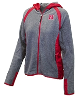 Husker Gals Tidwell Hooded Jacket Nebraska Cornhuskers, Nebraska  Ladies, Huskers  Ladies, Nebraska  Ladies Outerwear, Huskers  Ladies Outerwear, Nebraska Husker Gals Tidwell Hooded Jacket, Huskers Husker Gals Tidwell Hooded Jacket