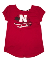 Husker Girls Bow Back Colosseum Tee Nebraska Cornhuskers, Nebraska  Youth, Huskers  Youth, Nebraska  Kids, Huskers  Kids, Nebraska Husker Girls Bow Back Colosseum Tee, Huskers Husker Girls Bow Back Colosseum Tee