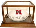 Husker Heismans Autographed Ball and Custom Display Nebraska Cornhuskers, Nebraska One of a Kind, Huskers One of a Kind, Nebraska  Balls & Helmets, Huskers  Balls & Helmets, Nebraska  Former Players, Huskers  Former Players, Nebraska  Framed & Mounted, Huskers  Framed & Mounted, Nebraska  Heisman Winners, Huskers  Heisman Winners, Nebraska Fryar Rozier Rodgers Autographed Ball Display, Huskers Fryar Rozier Rodgers Autographed Ball Display