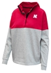 Husker Ladies Colorblock 1/2 Snap Jacket - AW-B7032