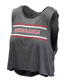 Husker Ladies Muscle Block Tank Nebraska Cornhuskers, Nebraska  Ladies Tops, Huskers  Ladies Tops, Nebraska  Ladies T-Shirts, Huskers  Ladies T-Shirts, Nebraska Gray W Muscle Block Tank, Huskers Gray W Muscle Block Tank