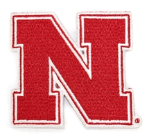 Husker N 3 Inch Embroidered Patch Nebraska Cornhuskers, Iron N Patch 3 Inch