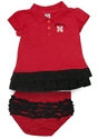 Husker N Bella Ruffle Dress Nebraska Cornhuskers, Nebraska  Childrens, Huskers  Childrens, Nebraska  Infant, Huskers  Infant, Nebraska Husker N Bella Ruffle Dress, Huskers Husker N Bella Ruffle Dress