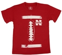 Husker N Football Laces Tee Nebraska Cornhuskers, Nebraska  Childrens, Huskers  Childrens, Nebraska  Kids, Huskers  Kids, Nebraska Husker N Football Laces Tee, Huskers Husker N Football Laces Tee