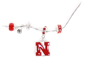 Husker N Silver Beaded Necklace Nebraska Cornhuskers, husker football, nebraska cornhuskers merchandise, nebraska merchandise, husker merchandise, nebraska cornhuskers apparel, husker apparel, nebraska apparel, husker womens apparel, nebraska cornhuskers womens apparel, nebraska womens apparel, husker womens merchandise, nebraska cornhuskers womens merchandise, womens nebraska accessories, womens husker accessories, womens nebraska cornhusker accessories, Beaded Silver N Necklace