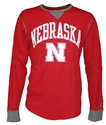 Husker Red Waffle L/S by League Nebraska Cornhuskers, Nebraska  Long Sleeve, Huskers  Long Sleeve, Nebraska  Ladies T-Shirts, Huskers  Ladies T-Shirts, Nebraska  Mens T-Shirts, Huskers  Mens T-Shirts, Nebraska Husker Red Waffle L/S by League, Huskers Husker Red Waffle L/S by League