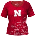 Husker Signature Top Nebraska Cornhuskers, Nebraska  Ladies Tops, Huskers  Ladies Tops, Nebraska  Ladies T-Shirts, Huskers  Ladies T-Shirts, Nebraska  Short Sleeve, Huskers  Short Sleeve, Nebraska  Ladies, Huskers  Ladies, Nebraska Husker Signature Top, Huskers Husker Signature Top