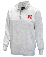 Husker Stapler Quarter Zip Nebraska Cornhuskers, Nebraska  Mens Sweatshirts, Huskers  Mens Sweatshirts, Nebraska  Mens, Huskers  Mens, Nebraska Heather Gray Stapler 14 Zip Col, Huskers Heather Gray Stapler 14 Zip Col