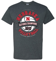 Husker Volleyball 2017 National Champs Banner Tee Nebraska Cornhuskers, Nebraska Volleyball, Huskers Volleyball, Nebraska  Ladies T-Shirts, Huskers  Ladies T-Shirts, Nebraska  Short Sleeve, Huskers  Short Sleeve, Nebraska  Mens, Huskers  Mens, Nebraska  Ladies, Huskers  Ladies, Nebraska  Mens T-Shirts, Huskers  Mens T-Shirts, Nebraska Mission NOT Impossible Volleyball Destination Tee, Huskers Mission NOT Impossible Volleyball Destination Tee