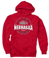 Husker Volleyball 2017 National Champs Bullseye Hoody Nebraska Cornhuskers, husker football, nebraska cornhuskers merchandise, nebraska merchandise, husker merchandise, nebraska cornhuskers apparel, husker apparel, nebraska apparel, husker mens apparel, nebraska cornhuskers mens apparel, nebraska mens apparel, husker mens merchandise, nebraska cornhuskers mens merchandise, mens nebraska sweatshirt, mens husker sweatshirt, mens nebraska cornhusker sweatshirt,Red Pocket Hoody With Oval Logo