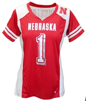 Huskers #1 Kick-Off Jersey Top Nebraska Cornhuskers, Nebraska  Ladies Tops, Huskers  Ladies Tops, Nebraska  Ladies T-Shirts, Huskers  Ladies T-Shirts, Nebraska  Ladies, Huskers  Ladies, Nebraska  Short Sleeve, Huskers  Short Sleeve, Nebraska  Ladies Jerseys, Huskers  Ladies Jerseys, Nebraska  Womens Jerseys, Huskers  Womens Jerseys, Nebraska Red W Kick Off Jersey Tee Champ, Huskers Red W Kick Off Jersey Tee Champ
