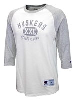 Huskers Athletic Department Champion Raglan Nebraska Cornhuskers, Nebraska  Mens T-Shirts, Huskers  Mens T-Shirts, Nebraska  Mens, Huskers  Mens, Nebraska  Long Sleeve, Huskers  Long Sleeve, Nebraska Huskers Athletic Department Champion Raglan, Huskers Huskers Athletic Department Champion Raglan