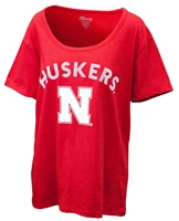 Huskers Disco Scoop Vivacious Tee Nebraska Cornhuskers, Nebraska  Ladies Tops, Huskers  Ladies Tops, Nebraska  Ladies T-Shirts, Huskers  Ladies T-Shirts, Nebraska  Ladies, Huskers  Ladies, Nebraska Red W SS Scoop Neck Plus Tee Klutch, Huskers Red W SS Scoop Neck Plus Tee Klutch