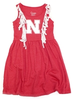 Huskers Fringe Toddler Dress Nebraska Cornhuskers, Nebraska  Childrens, Huskers  Childrens, Nebraska  Kids, Huskers  Kids, Nebraska Toddler Grils Fringe Dress CP, Huskers Toddler Grils Fringe Dress CP