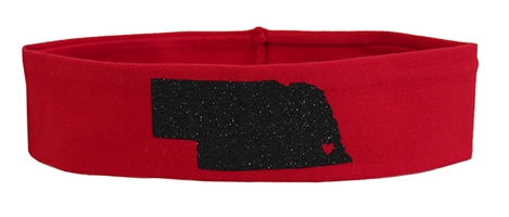 Huskers Glitter State Outline Headband Nebraska Cornhuskers, Nebraska  Ladies Accessories, Huskers  Ladies Accessories, Nebraska  Jewelry & Hair, Huskers  Jewelry & Hair, Nebraska Red Glitter State Outline Headband, Huskers Red Glitter State Outline Headband