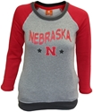 Huskers Heather Fleece Youth Tunic Nebraska Cornhuskers, Nebraska  Youth, Huskers  Youth, Nebraska  Kids, Huskers  Kids, Nebraska Heather Grey/ Red Fleece Tunic, Huskers Heather Grey/ Red Fleece Tunic