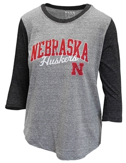Huskers Heathered Ladies Raglan Nebraska Cornhuskers, Nebraska  Ladies Tops, Huskers  Ladies Tops, Nebraska  Ladies T-Shirts, Huskers  Ladies T-Shirts, Nebraska  Ladies, Huskers  Ladies, Nebraska Huskers Heathered Ladies Raglan , Huskers Huskers Heathered Ladies Raglan