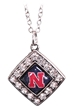 Huskers Rhombus Earring Necklace Set - DU-B4159