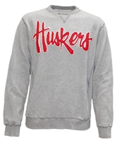 Huskers Script Gray Fleece Crew Nebraska Cornhuskers, Nebraska  Mens Sweatshirts, Huskers  Mens Sweatshirts, Nebraska  Mens, Huskers  Mens, Nebraska  Crew, Huskers  Crew, Nebraska  Ladies Sweatshirts, Huskers  Ladies Sweatshirts, Nebraska  Ladies, Huskers  Ladies, Nebraska Huskers Script Gray Fleece Crew, Huskers Huskers Script Gray Fleece Crew