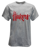 Huskers Script Tee - Gray Nebraska Cornhuskers, Nebraska  Mens T-Shirts, Huskers  Mens T-Shirts, Nebraska  Mens, Huskers  Mens, Nebraska  Short Sleeve, Huskers  Short Sleeve, Nebraska  Ladies T-Shirts, Huskers  Ladies T-Shirts, Nebraska  Ladies, Huskers  Ladies, Nebraska Huskers Script Tee - Gray, Huskers Huskers Script Tee - Gray