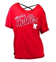 Huskers Youth Girls Dolman Criss Cross Tee Nebraska Cornhuskers, Nebraska  Youth, Huskers  Youth, Nebraska  Kids, Huskers  Kids, Nebraska Huskers Youth Girls Dolman Criss Cross Tee, Huskers Huskers Youth Girls Dolman Criss Cross Tee