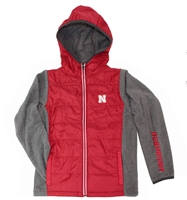 Huskers Youth Puffer Jacket Nebraska Cornhuskers, Nebraska  Youth, Huskers  Youth, Nebraska  Kids , Huskers  Kids , Nebraska Huskers Youth Puffer Jacket, Huskers Huskers Youth Puffer Jacket
