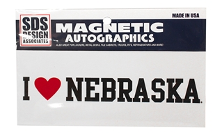 I Love Nebraska Mini Magnet Nebraska Cornhuskers, Nebraska Vehicle, Huskers Vehicle, Nebraska Stickers Decals & Magnets, Huskers Stickers Decals & Magnets, Nebraska I Love Nebraska Mini Magnet, Huskers I Love Nebraska Mini Magnet