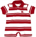 Infant Boys Red and White Rugby Romper Nebraska Cornhuskers, Nebraska  Infant, Huskers  Infant, Nebraska  Kids, Huskers  Kids, Nebraska  Short Sleeve , Huskers  Short Sleeve , Nebraska Infant Boys Red and White Rugby Romper, Huskers Infant Boys Red and White Rugby Romper