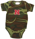Infant Camo Creeper with Red N Nebraska Cornhuskers, Nebraska  Infant, Huskers  Infant, Nebraska Camo , Huskers Camo , Nebraska Infant Camo Creeper with Red N, Huskers Infant Camo Creeper with Red N