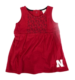 Infant Girls Huskers Onesie Dress Nebraska Cornhuskers, Nebraska  Infant, Huskers  Infant, Nebraska Infant Girls Flyers Star Onesie Dress Col, Huskers Infant Girls Flyers Star Onesie Dress Col