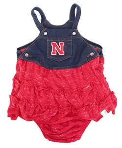Infant Girls Overall Sandlot Dress Nebraska Cornhuskers, Nebraska  Infant, Huskers  Infant, Nebraska Infant Girls Overall Sandlot Dress, Huskers Infant Girls Overall Sandlot Dress