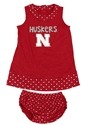 Infant Husker Girl Heartbeat Dress Nebraska Cornhuskers, Nebraska  Infant , Huskers  Infant , Nebraska Infant Husker Girl Heartbeat Dress, Huskers Infant Husker Girl Heartbeat Dress