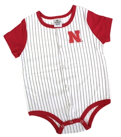 Infant Nebraska Baseball Pinstripe Onesie Nebraska Cornhuskers, Nebraska  Infant, Huskers  Infant, Nebraska Infant Baseball Bottom Onesie Col, Huskers Infant Baseball Bottom Onesie Col
