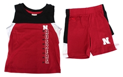 Infant Titan Short Set Col Nebraska Cornhuskers, Nebraska  Infant, Huskers  Infant, Nebraska Infant Titan Short Set Col, Huskers Infant Titan Short Set Col