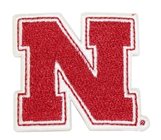 Iron N 2 Inch Embroidered Patch Nebraska Cornhuskers, Iron N Patch 2 Inch