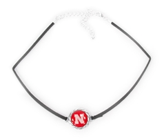 Iron N Charm Suede Choker Nebraska Cornhuskers, Nebraska  Ladies, Huskers  Ladies, Nebraska  Jewelry & Hair, Huskers  Jewelry & Hair, Nebraska  Ladies Accessories, Huskers  Ladies Accessories, Nebraska Iron N Charm Suede Choker, Huskers Iron N Charm Suede Choker