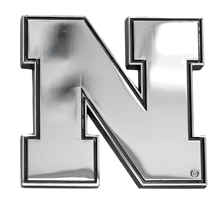 Iron N Chrome Premium Metal Emblem Nebraska Cornhuskers, Nebraska Vehicle, Huskers Vehicle, Nebraska Iron N Chrome Premium Metal Emblem, Huskers Iron N Chrome Premium Metal Emblem